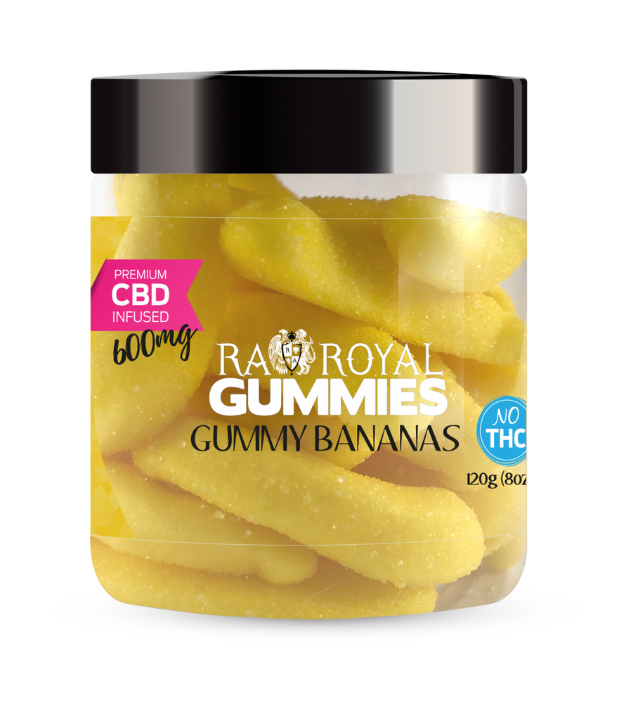 RA Royal CBD Infused Bananas Gummies (~20mg/gummy) (Isolate - No THC)