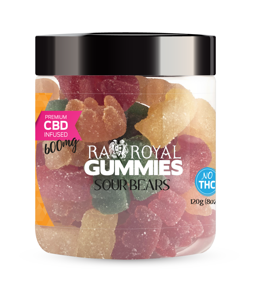 RA Royal CBD Sour Bear Gummies (~10mg/gummy) (Isolate - No THC)