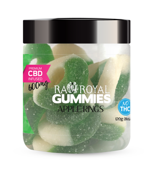 RA Royal CBD Apple Gummies for Pain Anxiety Sleep