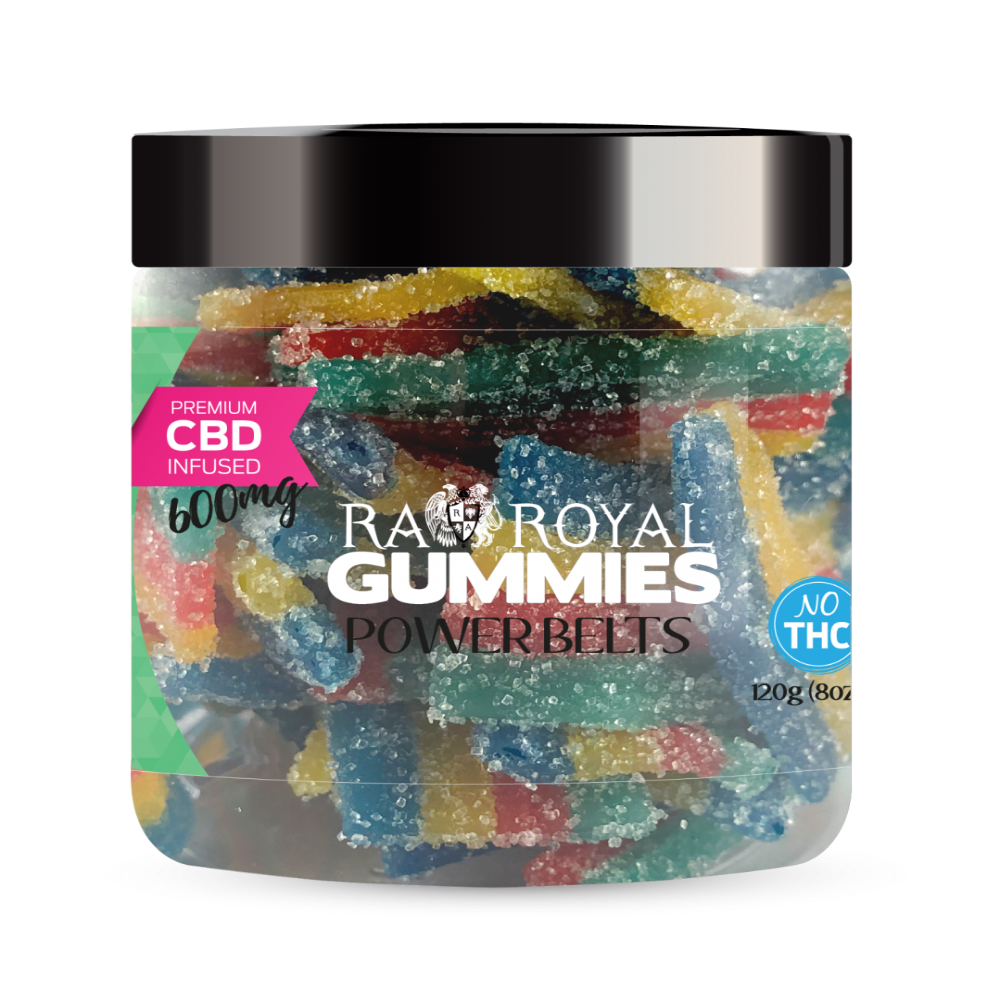 RA Royal CBD Power Belt Gummies (~20mg/gummy) (Isolate - No THC)