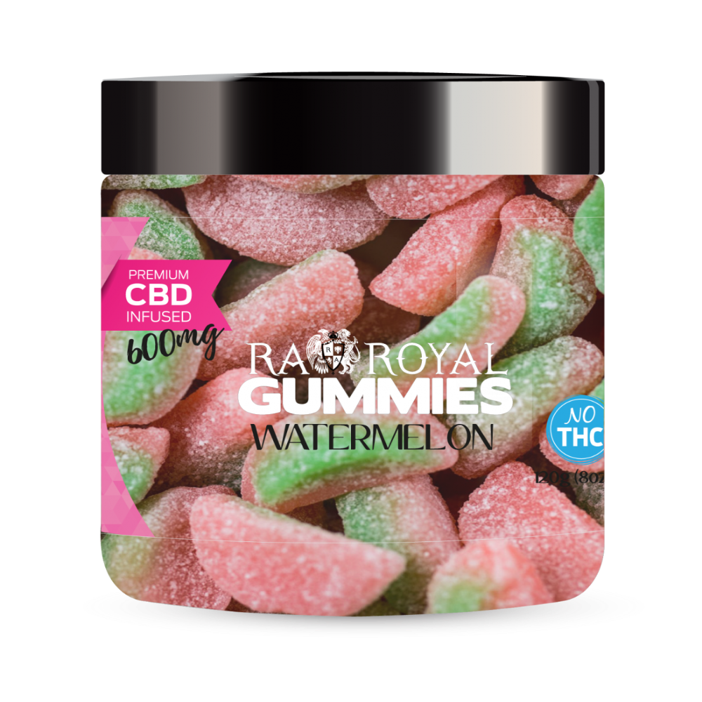 RA Royal CBD Watermelon Gummies (~10mg/gummy) (Isolate - No THC)