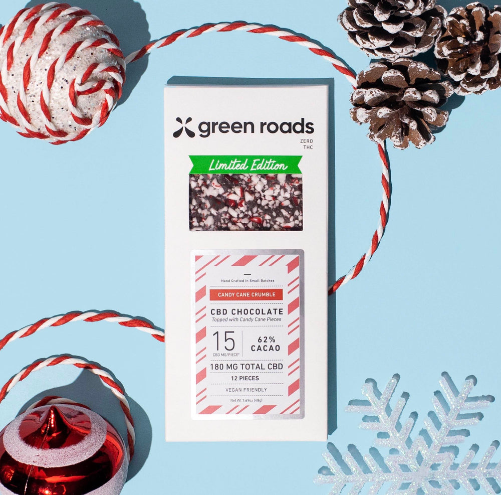 Green Roads Candy Cane Crumble CBD Chocolate Bar - 180MG