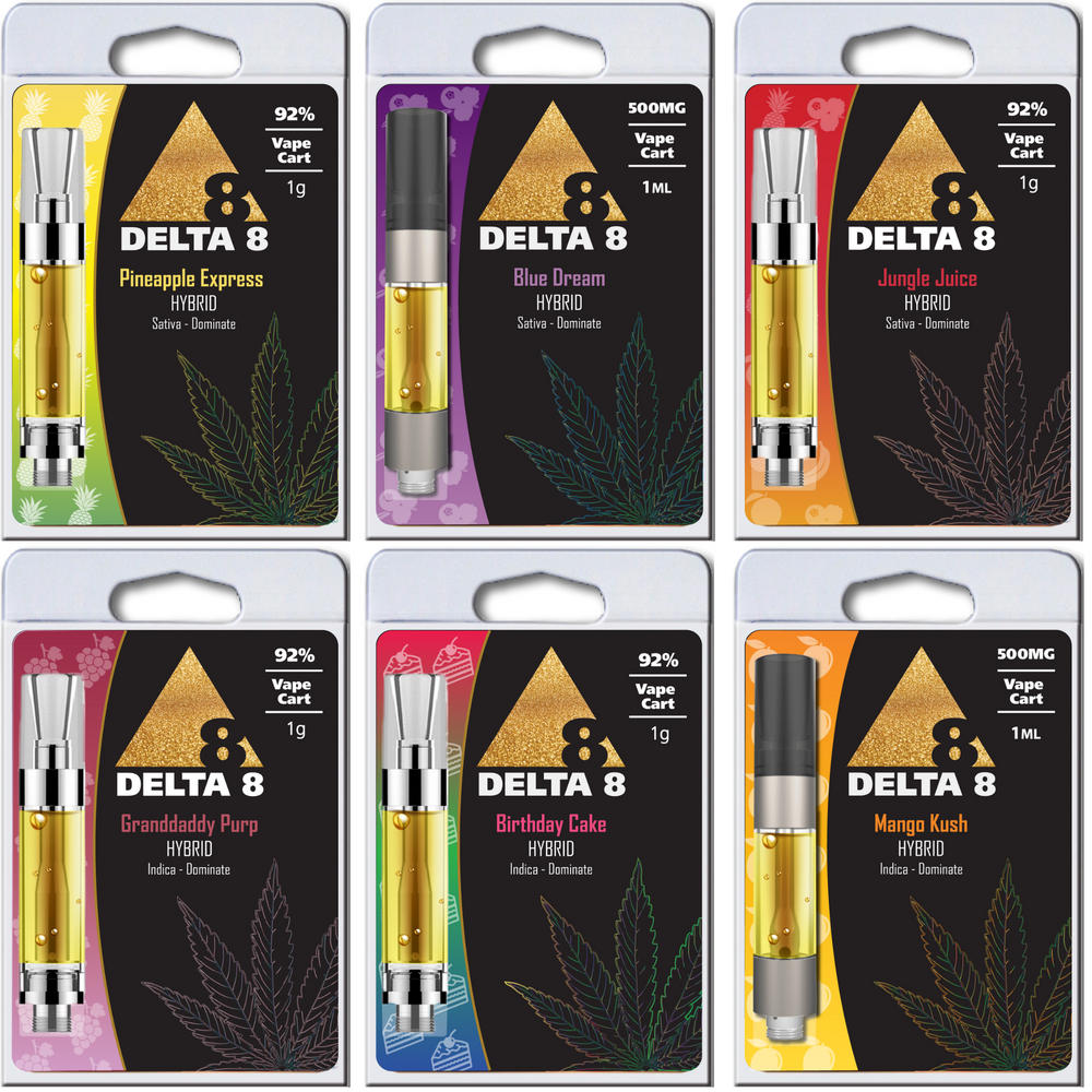 Hemp Derived Delta-8 THC Vape Carts (various strains)