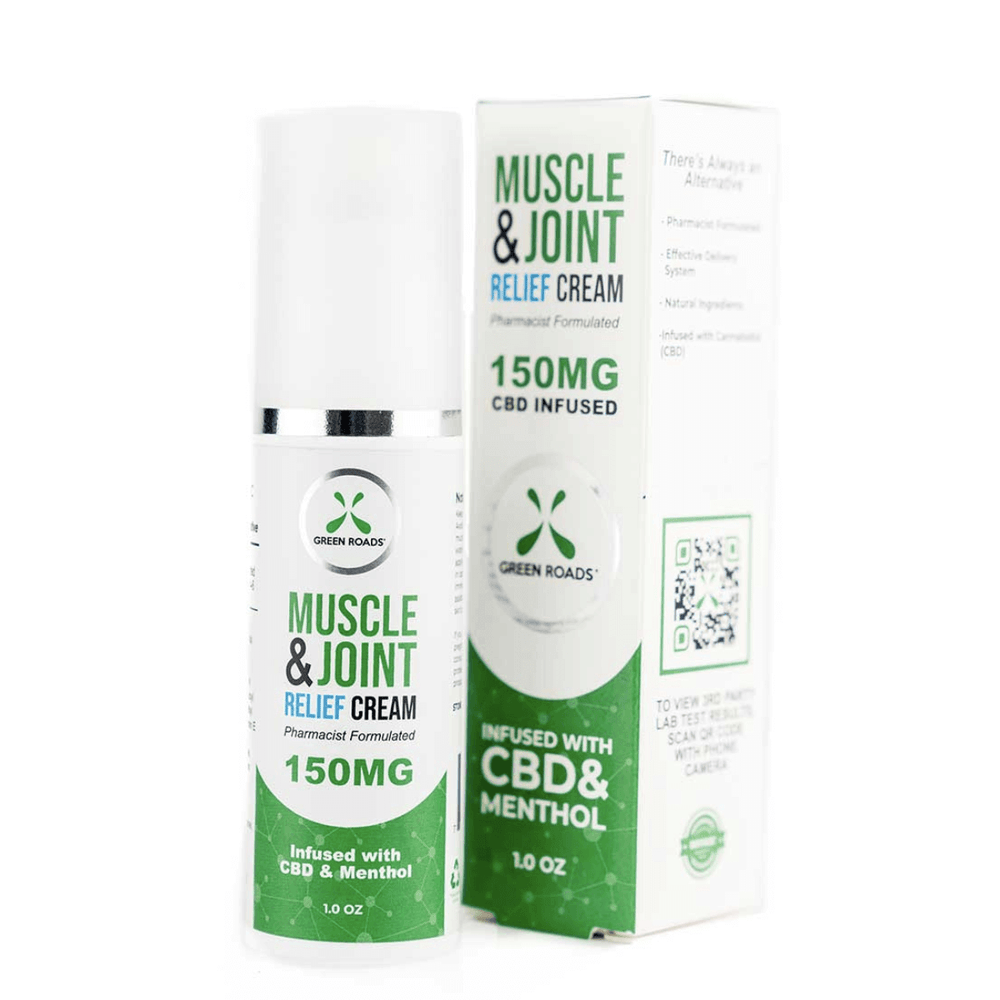 Green Roads Muscle and Joint CBD Relief Cream 150mg