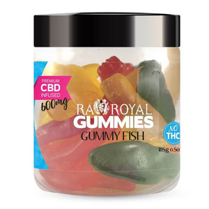 R.A. Royall Gummies CBD Infused Gummy Fish for pain, stress, anxiety, insomnia - 300mg, 600mg