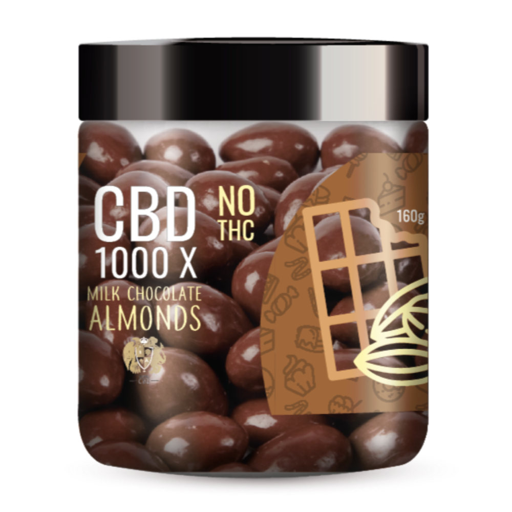 RA Royal CBD Milk Chocolate Covered Almonds - 1,000mg of CBD (~20mg/almond) (Isolate - No THC)