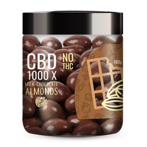 **NEW** 1000X CBD Milk Chocolate Covered Almonds - No THC