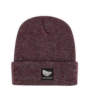 Heather Burgundy Beanie Amsterdam