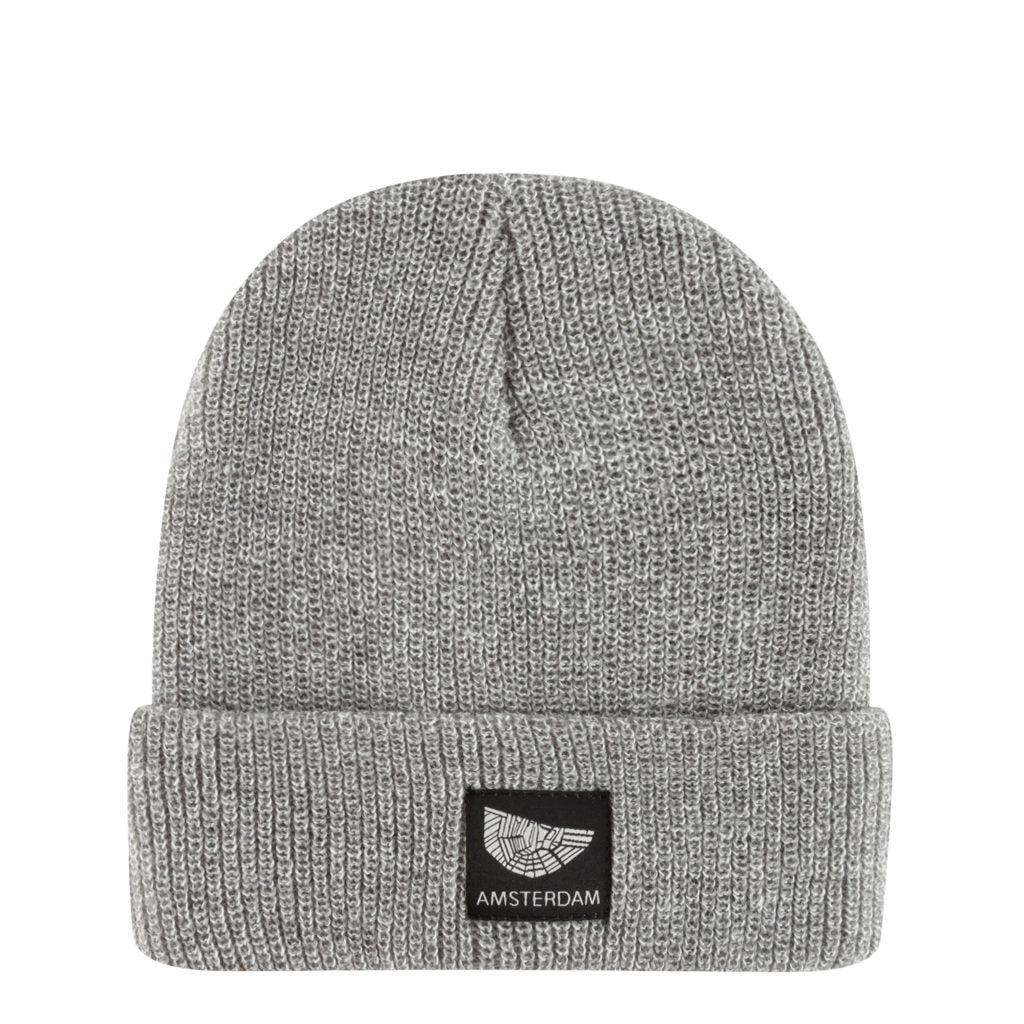 Light Heather Grey Beanie Amsterdam