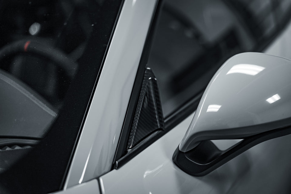 Carbon Fiber Window Triangles