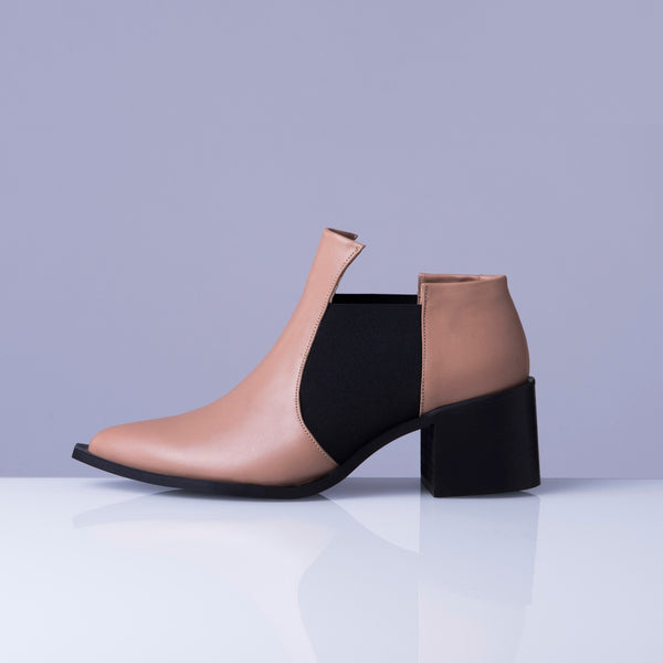JANINE tan chelsea ankle boot