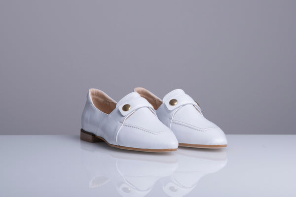 TEDDY'S LOAFERS WHITE - LAX