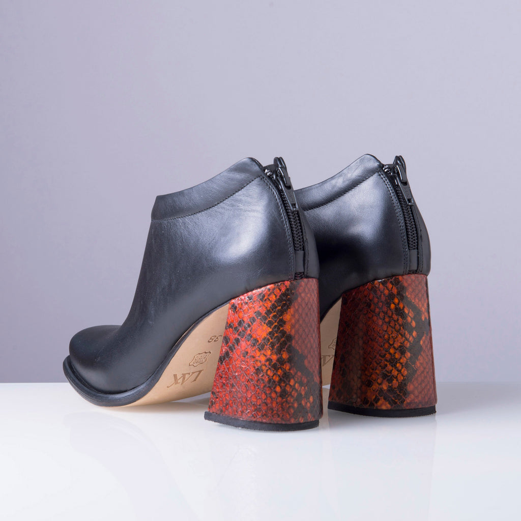 PRELLY Red snake heel - LAX