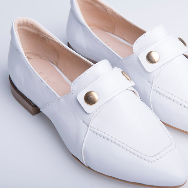 TEDDY'S LOAFERS WHITE - house-of-lax