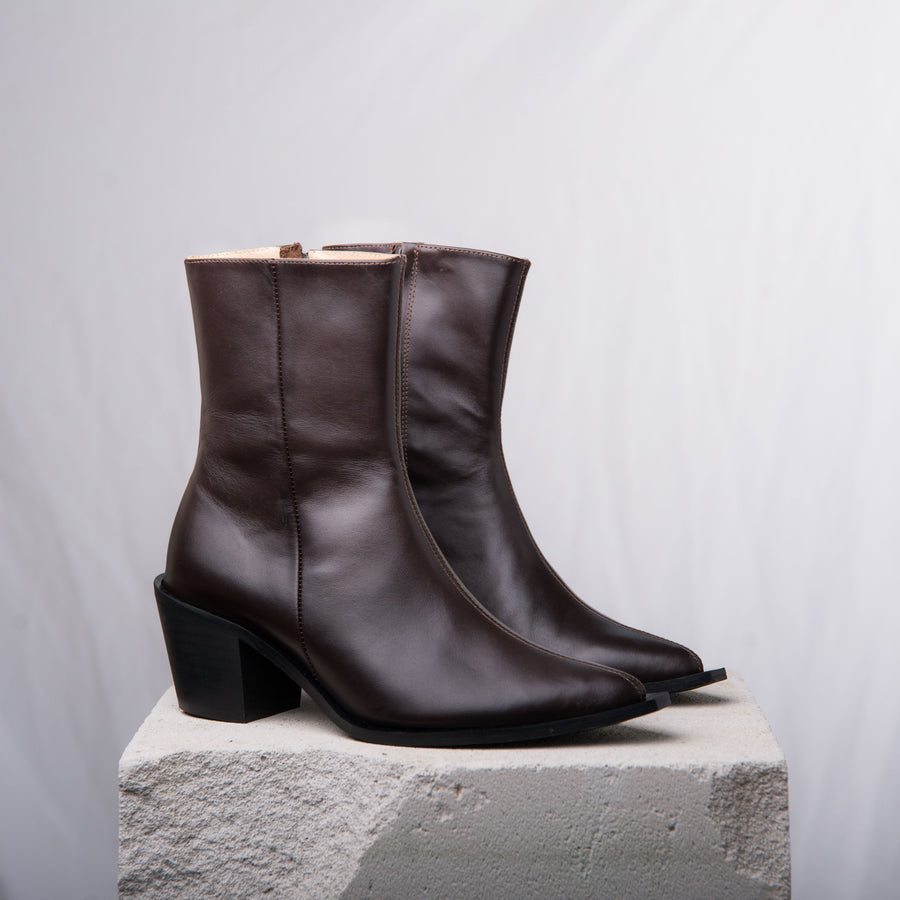DAVE 20 Mid calf boot Dark Brown