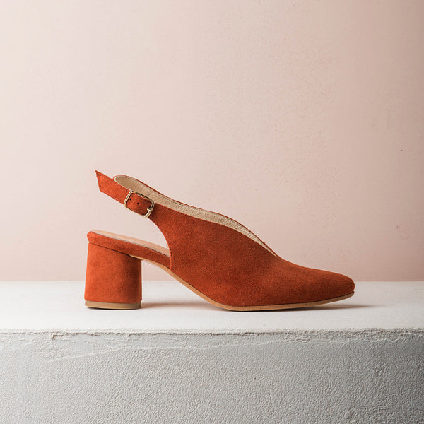 BILLIE V Brick suede - house-of-lax