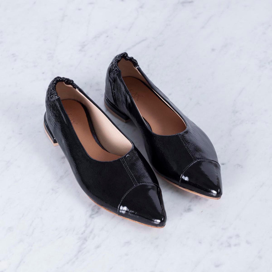 BETTINA Ballerina Black Patent