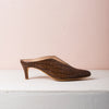 BILLIE MULES Brown croc