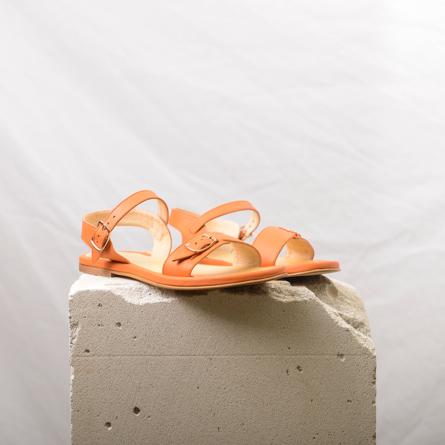 Peach leather Sandals