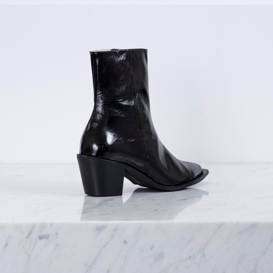 DAVE 20 Mid calf boot Black Patent leather