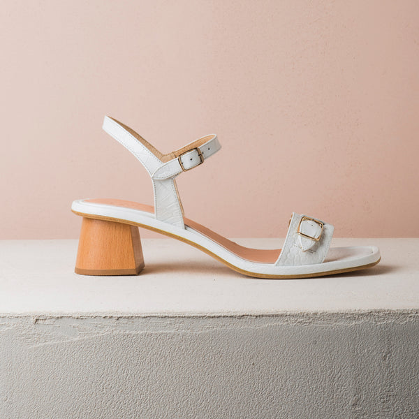 TERRA SUN White  croc sandals - house-of-lax