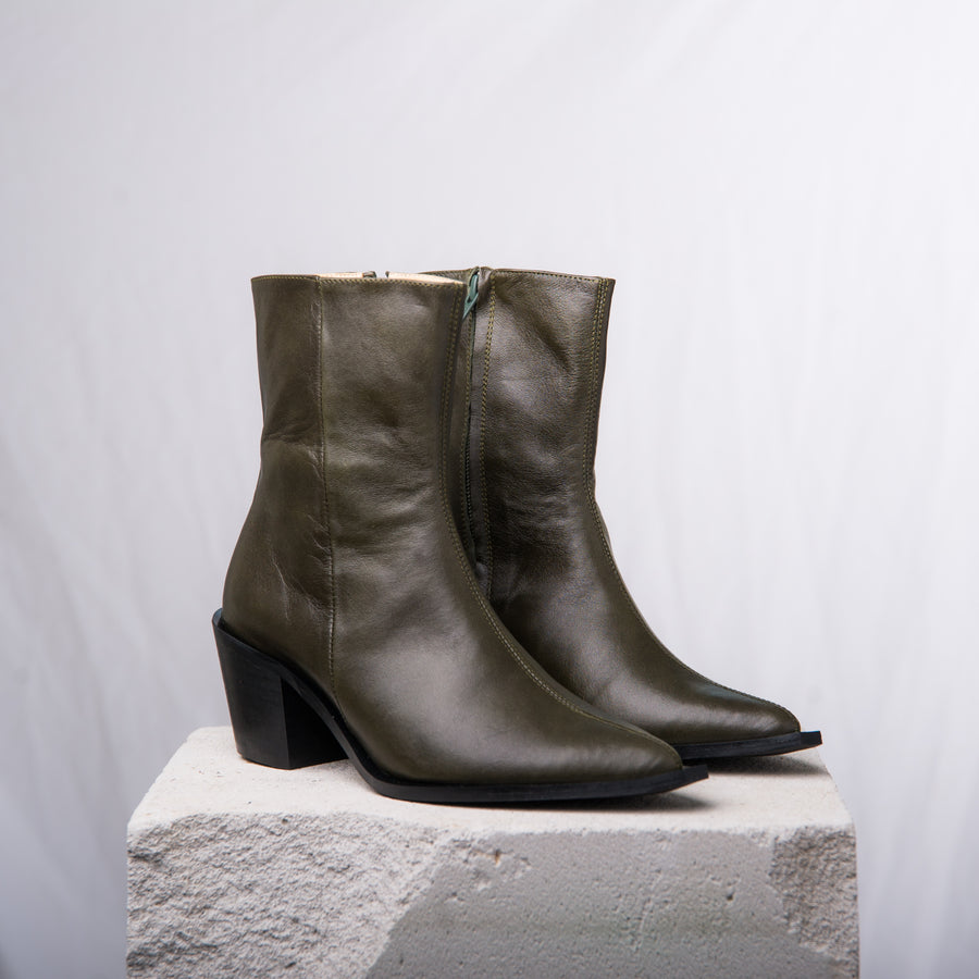 DAVE 20 Mid calf boot Olive Green