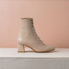 LORD lace up boots Cream - house-of-lax