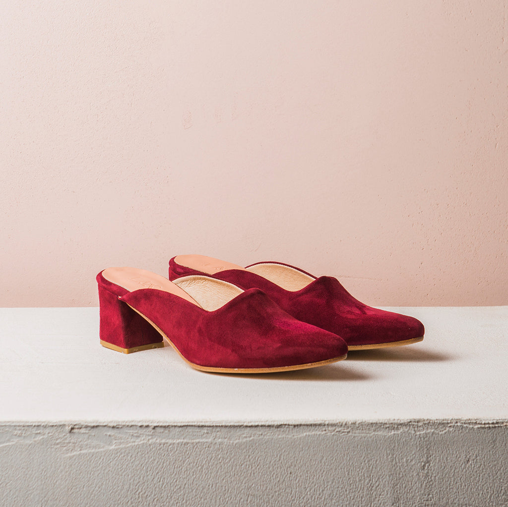 PENNY LANE Burgundy Suede - house-of-lax
