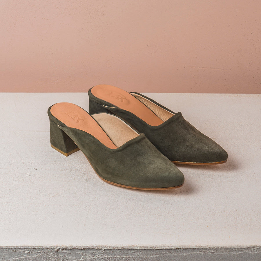 PENNY LANE Olive green Suede - house-of-lax