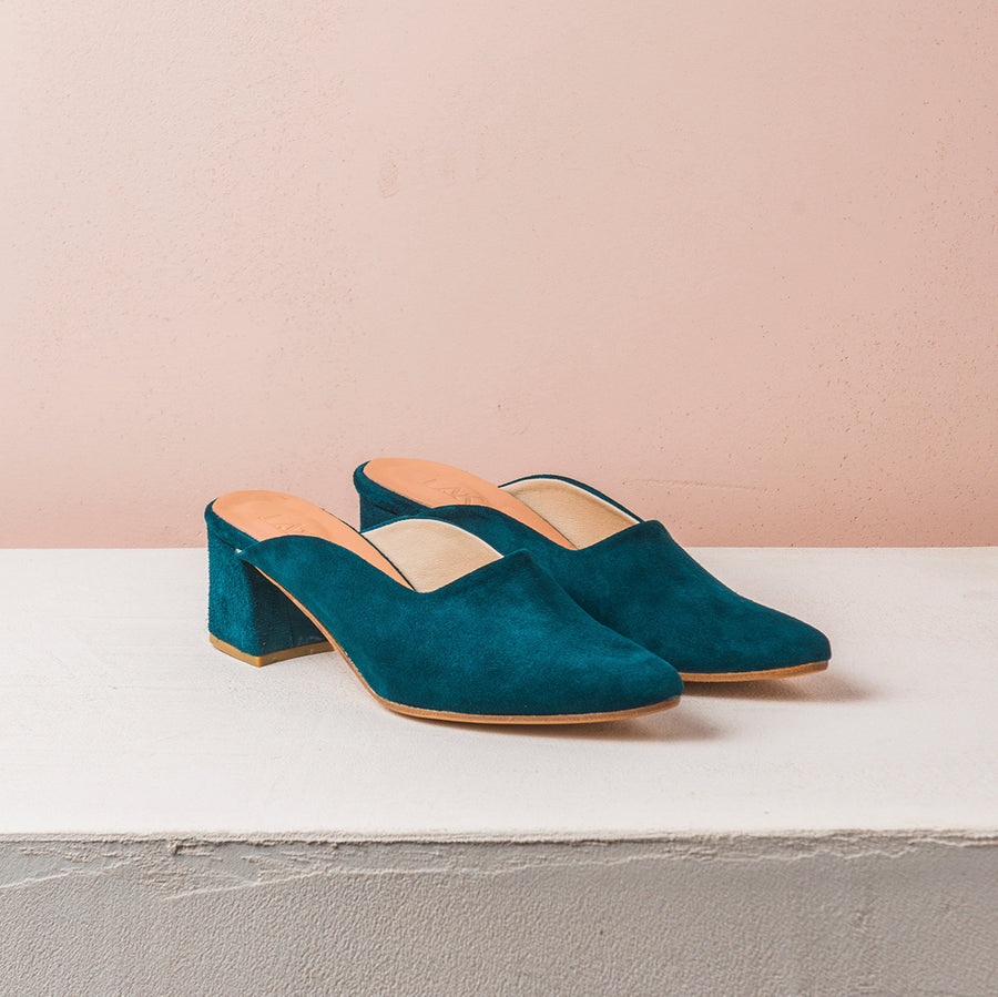 PENNY LANE Teal green Suede - house-of-lax