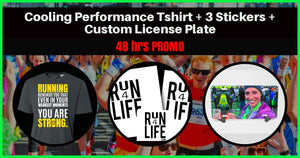 PROMO! Cooling Performance Crew: STRONG + Stickers + Custom License Plate - Run4Life