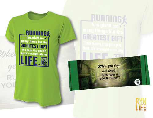 PROMOTION - Performance TEE (Lime color) + Cooling Towel