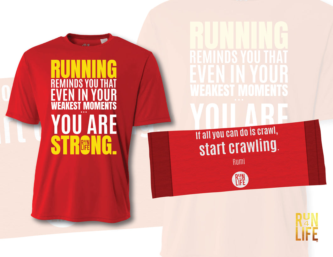 PROMOTION - Performance TEE (Scarlet color) + Cooling Towel