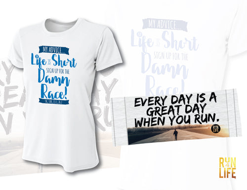 PROMOTION - Performance TEE (White color) + Cooling Towel
