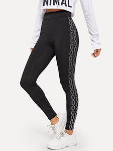 Chain Print Side Leggings