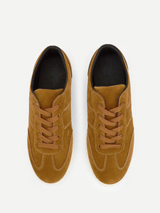 Men Stitch Detail Suede Sneakers