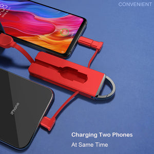 Folding Keychain 3 in 1 Charging Micro USB Cable iPhone Android | Cables | Charging cables | charging pad | chargers | Charger | Charging | electronic