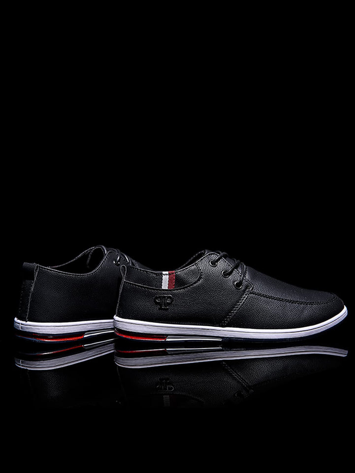 Men Striped Detail Lace-up Sneakers