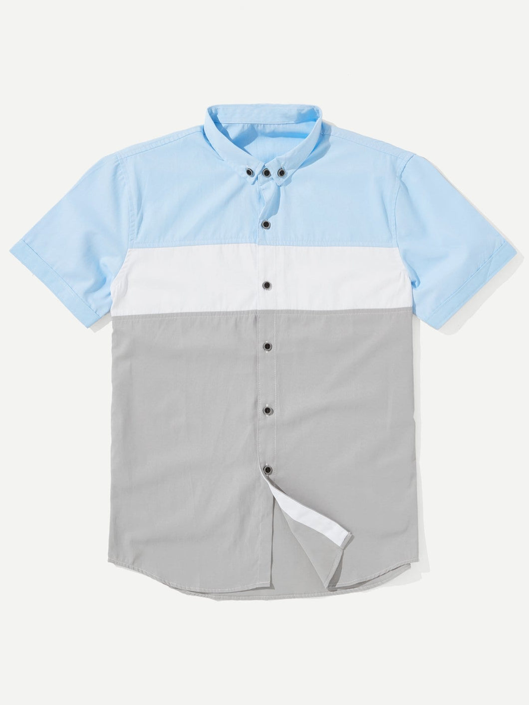 Men Cut And Sew Panel Shirt