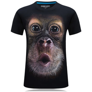 Men's  3D printed animal design t-Shirts
