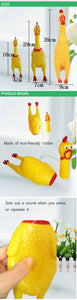 Novelty Yellow Rubber Chicken Pet Dog Toy |  Dogs funny gadget