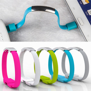 Wearable Charging Cable Bracelet | Data Sync Cord | Wristband Charger