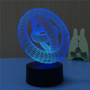 3D Illusion Circle Table Lamp- BUY HERE |Illusion Circle  |Home decoration | 3d | 3D Illusion | lamp | Table Lamp | electronics | house hold