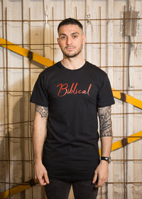 Urban T-Shirt Black - Red signature on front