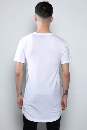 Lowliness Long-line T-shirt White
