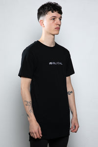 Lowliness Long-line T-shirt Black