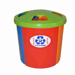Plastic 4 Station 45L Recycle Bin