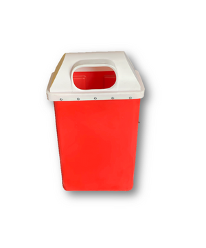 50L Pole Litter Bin With Hinged Lid