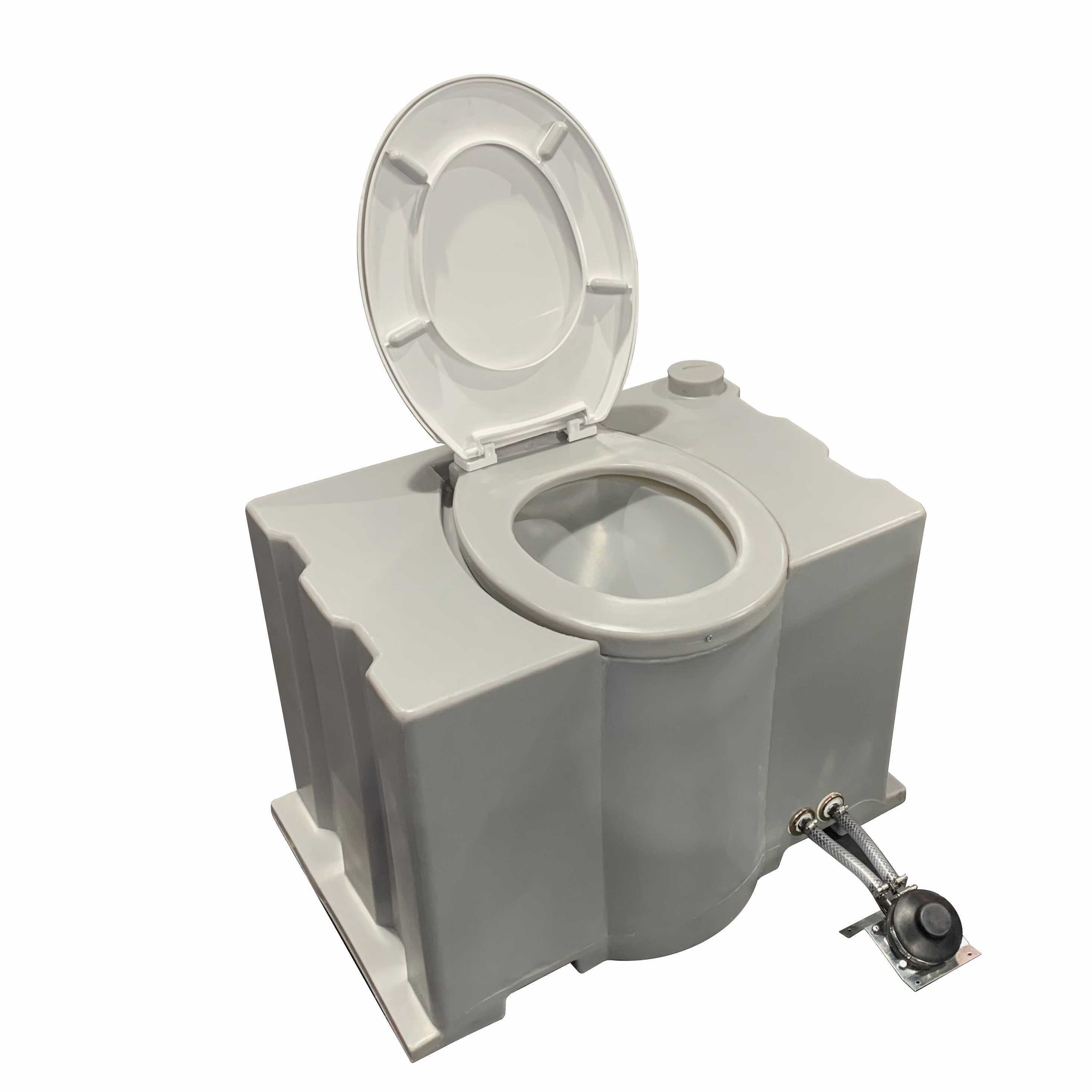 Toilet Pedestal With Foot Flush