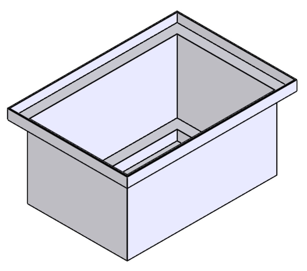 Stacking Base Bin Rectangular Flange (SB)